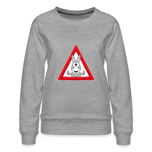 VORSICHT ESEL - TIER - TIERISCH - GESCHENKIDEE - Frauen Premium Pullover