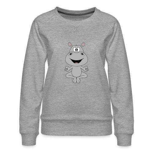 FLUSSPFERD - HIPPO - NILPFERD - YOGA - PILATES - Frauen Premium Pullover