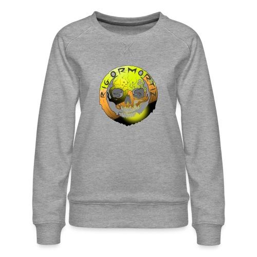 Rigormortiz Metallic Yellow Orange Design - Women's Premium Sweatshirt