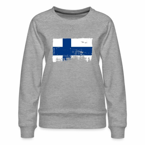 Suomen lippu, Finnish flag T-shirts 151 Products - Naisten premium-collegepaita