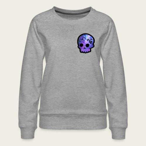 Skull craneo nebulosa - Sudadera premium para mujer