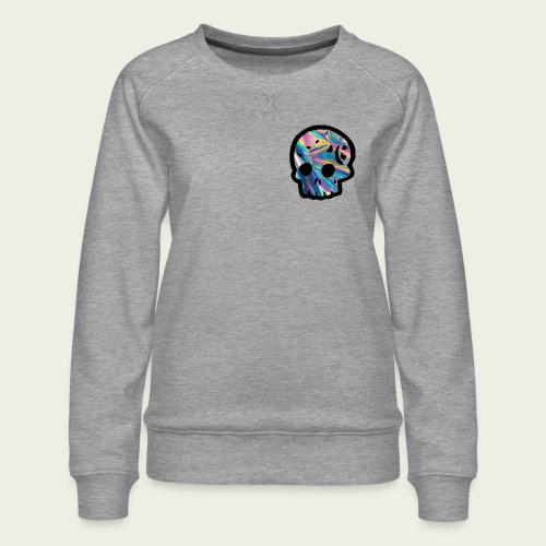 Skull craneo reflejante - Sudadera premium para mujer