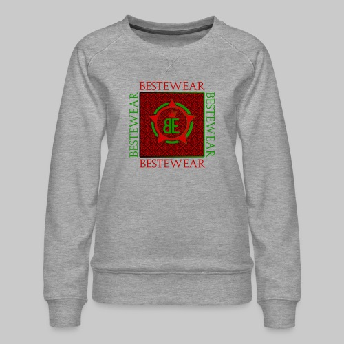 #Bestewear - Royal Line (Green/Red) - Frauen Premium Pullover