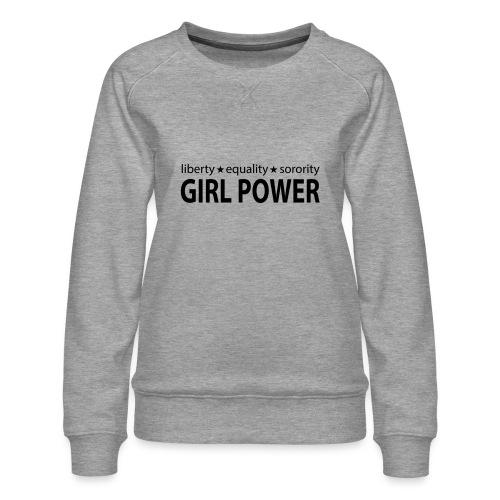18 - Girl Power 006 - Dame premium sweatshirt
