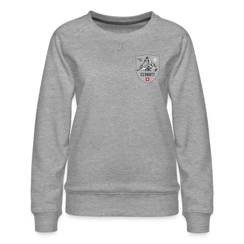 Zermatt Schweiz Wappen - Women's Premium Sweatshirt
