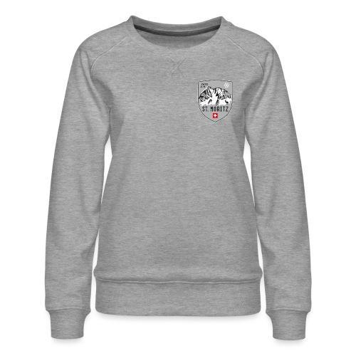 St. Moritz coat of arms - Women's Premium Sweatshirt