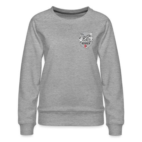 Eiger, Mönch und Jungfrau mit Mürren Flagge - Women's Premium Sweatshirt