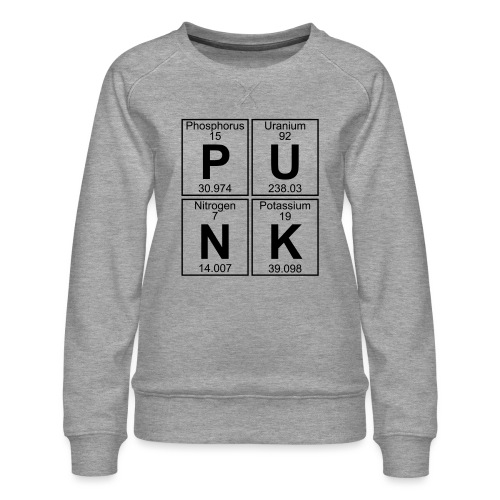 P-U-N-K (punk) - Full - Women's Premium Sweatshirt