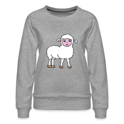 Minos le petit agneau - Sweat ras-du-cou Premium Femme