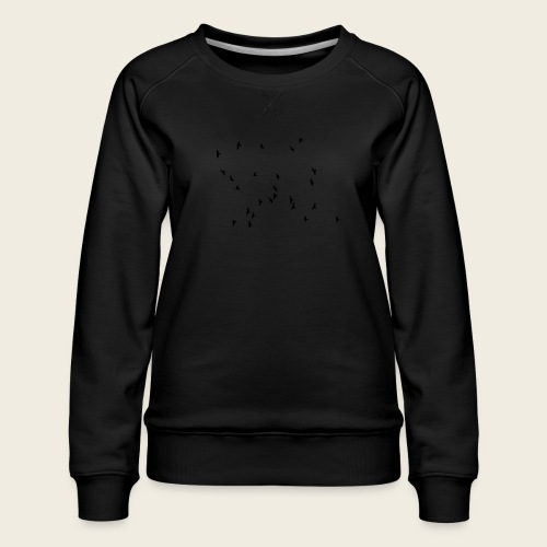 Flying birds - Dame premium sweatshirt