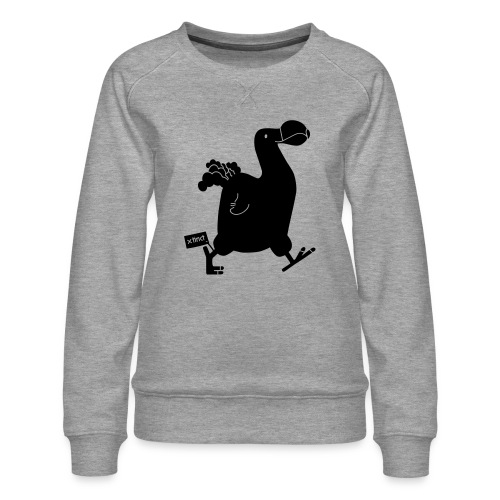 Hellgrau meliert Schwarz Seekuh - Riesenseekuh - Frauen Premium Pullover