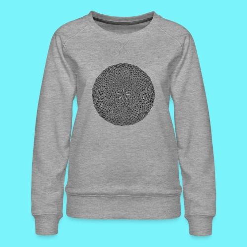Fibonacci web with spirals - Women's Premium Sweatshirt