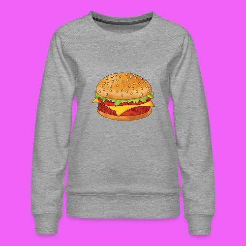 hamburguesa - Sudadera premium para mujer