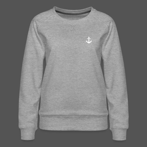 Anker Design T shirt Klassischer weißer Anker - Frauen Premium Pullover