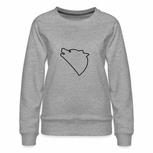 Wolf baul logo - Vrouwen premium sweater