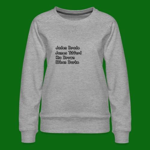 Glog names - Women's Premium Sweatshirt