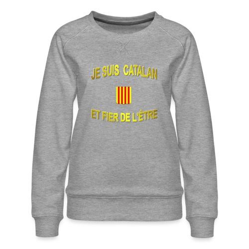 Tee-Shirt supporter du pays CATALAN - Sweat ras-du-cou Premium Femme