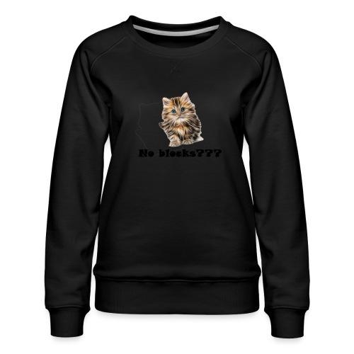 No block kitten - Premium-genser for kvinner