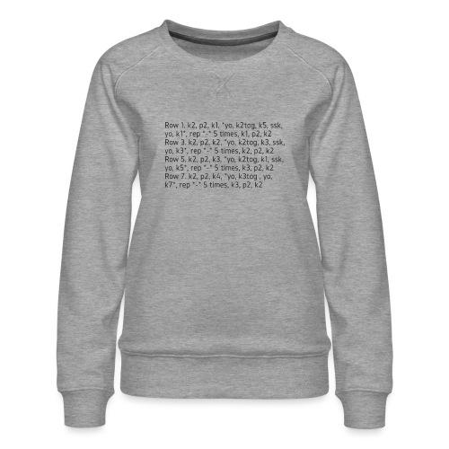 Knit Talk, dark - Women's Premium Sweatshirt