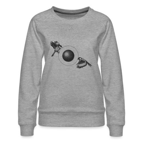 The Pulling Birds [BLACK] - Women's Premium Sweatshirt
