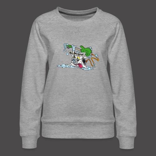 Wicked Washing Machine Wasmachine - Vrouwen premium sweater