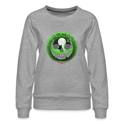 Rigormortiz Metallic Green Design - Women's Premium Sweatshirt