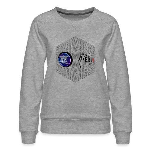 disen o dos canales cubo binario logos delante - Women's Premium Sweatshirt