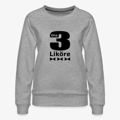 Die 3 Liköre - Kids logo schwarz - Frauen Premium Pullover