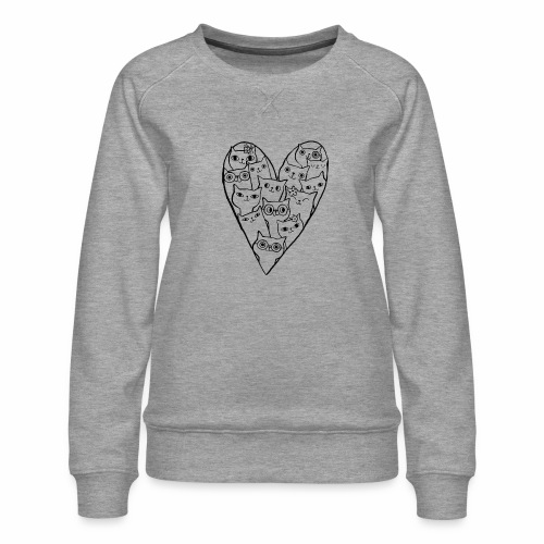 I Love Cats - Women's Premium Sweatshirt