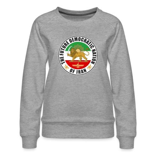 Iran Emblem Old Flag With Lion - Women's Premium Sweatshirt