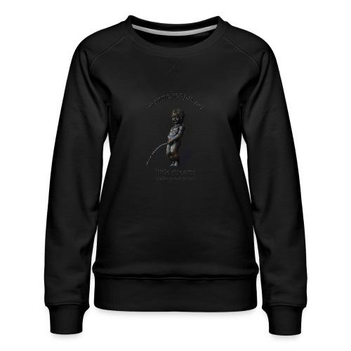 BXL ♀♂ | mannekenpis - Sweat ras-du-cou Premium Femme