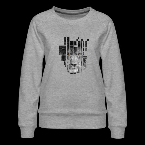 Pixel Lion Tattoo Inspire - Women's Premium Sweatshirt