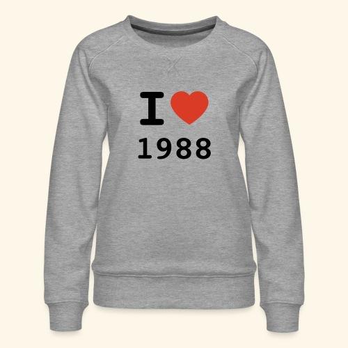 I Love 88 b 001 - Frauen Premium Pullover