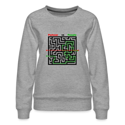 Parkour Maze parkour vs people - Dame premium sweatshirt
