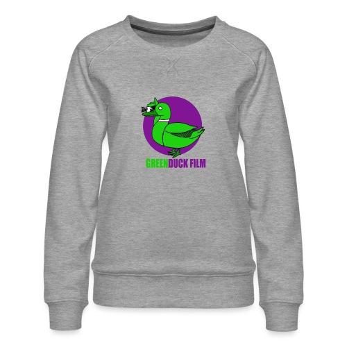 Greenduck Film Purple Sun Logo - Dame premium sweatshirt