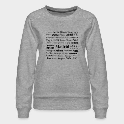 European capitals - Women's Premium Sweatshirt