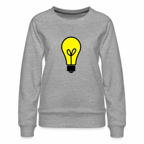 light bulb - Frauen Premium Pullover