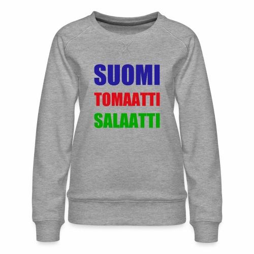 SUOMI SALAATTI tomater - Premium-genser for kvinner