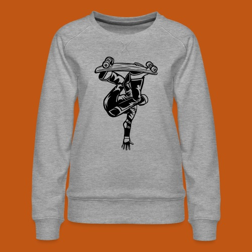 Skater / Skateboarder 03_schwarz - Frauen Premium Pullover