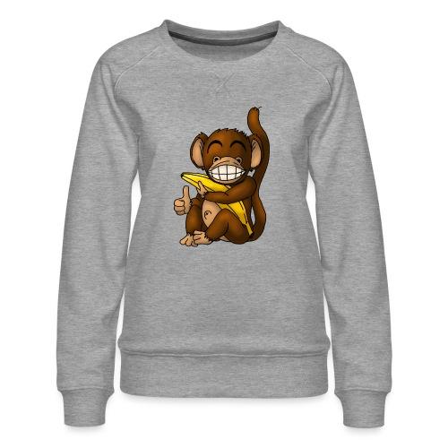 Super Fröhlicher Affe - Frauen Premium Pullover