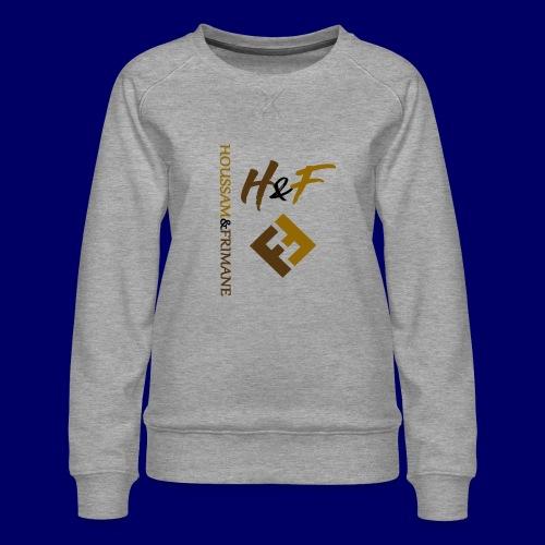 h&F luxury style - Felpa premium da donna