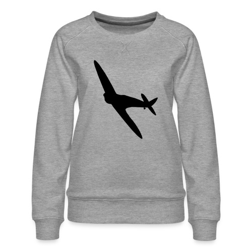 Spitfire Silhouette - Women's Premium Sweatshirt