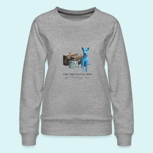 Laly Blue Big - Women's Premium Sweatshirt