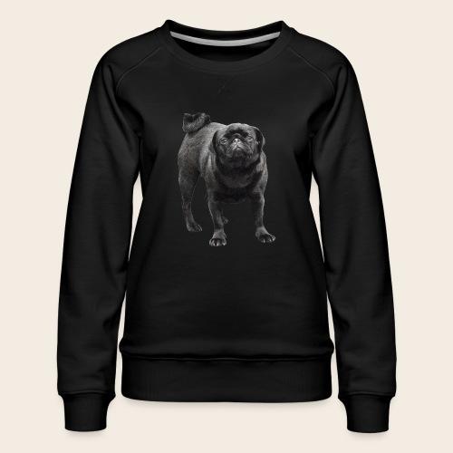 schwarzer Mops - Frauen Premium Pullover