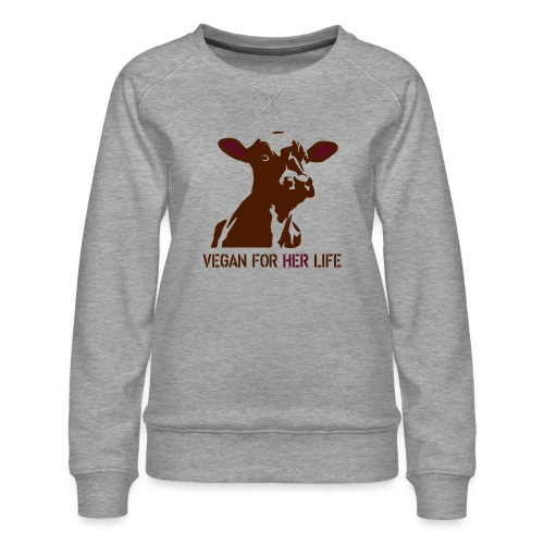 vegan for her life - Frauen Premium Pullover