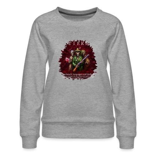 TIERE - Frauen Premium Pullover