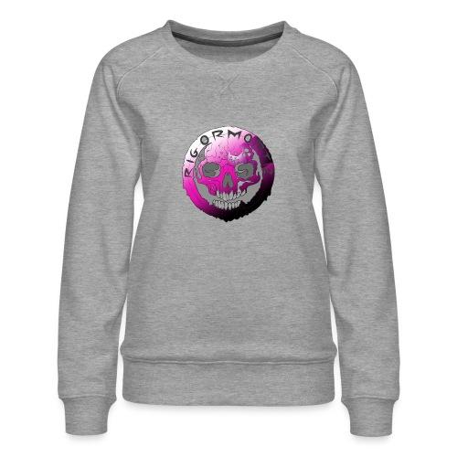 Rigormortiz Purple Design - Women's Premium Sweatshirt