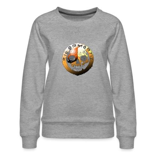 Rigormortiz Metallic Orange Design - Women's Premium Sweatshirt