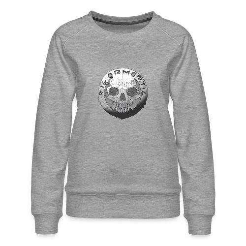 Rigormortiz Black and White Design - Women's Premium Sweatshirt