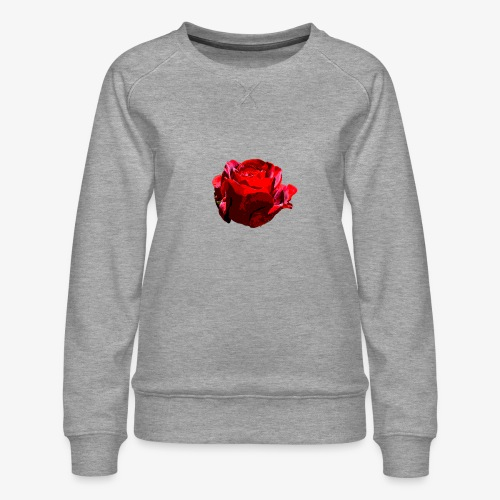 Red Rose - Frauen Premium Pullover